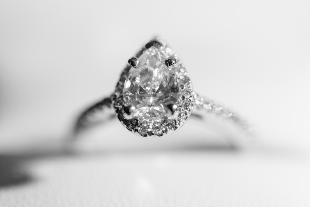 unique pear shaped engagement ring
