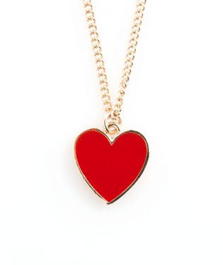 bando-supercute-heart-necklace-red