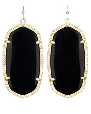 danielle-earring-gold-black