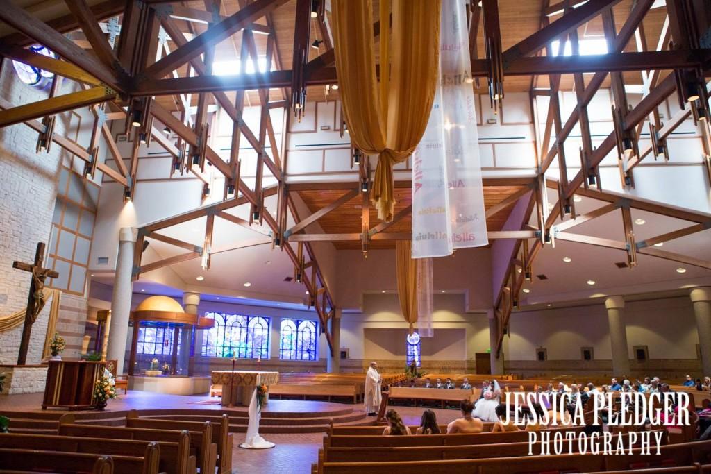 Catholic Church Ceremony in Pearland | Houston Wedding Photographer