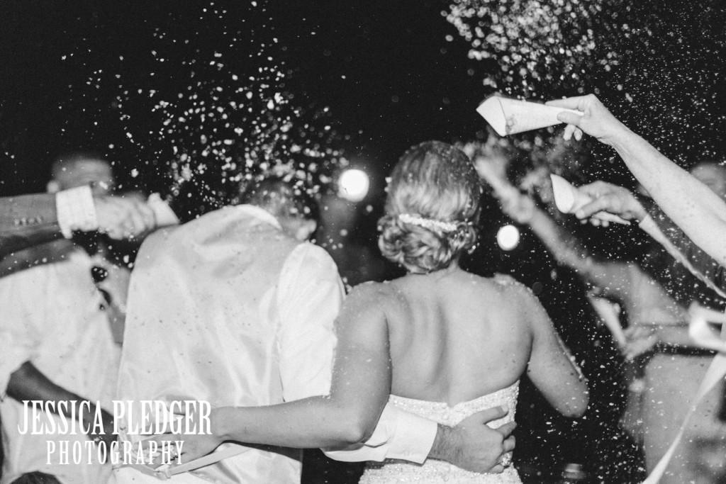 Degradable white confetti Wedding Exit | Houston Wedding Photographer | Jessica Pledger Photography