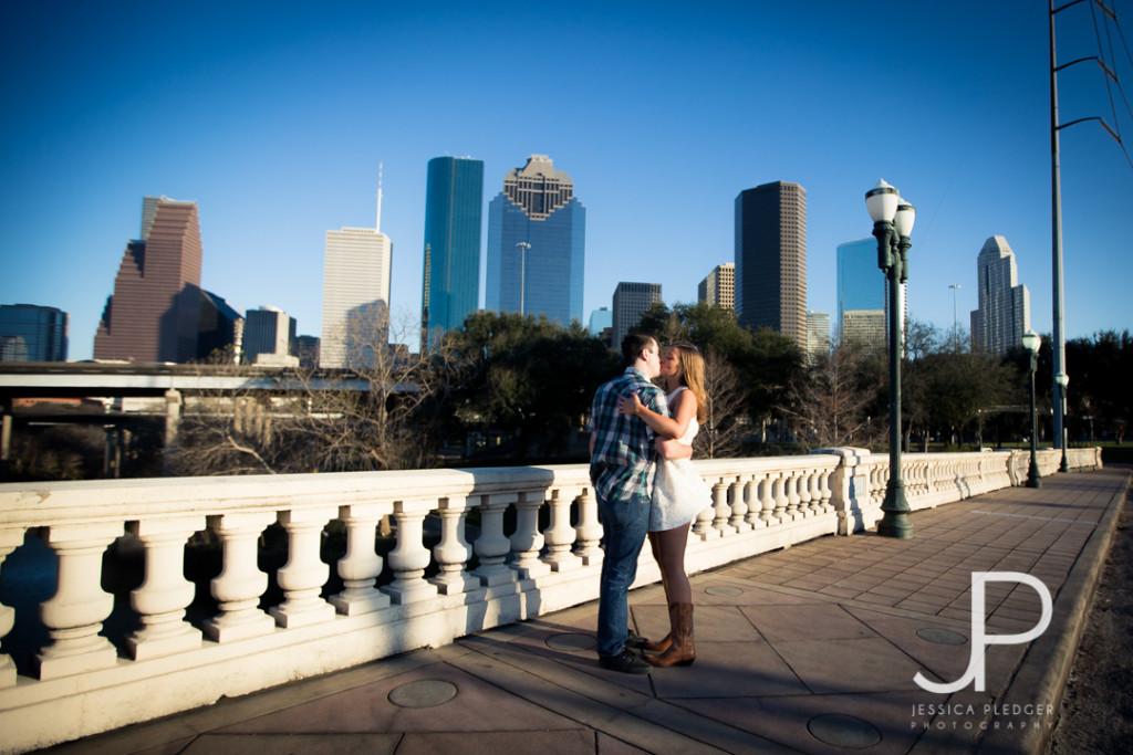 Houston Skyline Engagement Session Photos| Jessica Pledger Photography