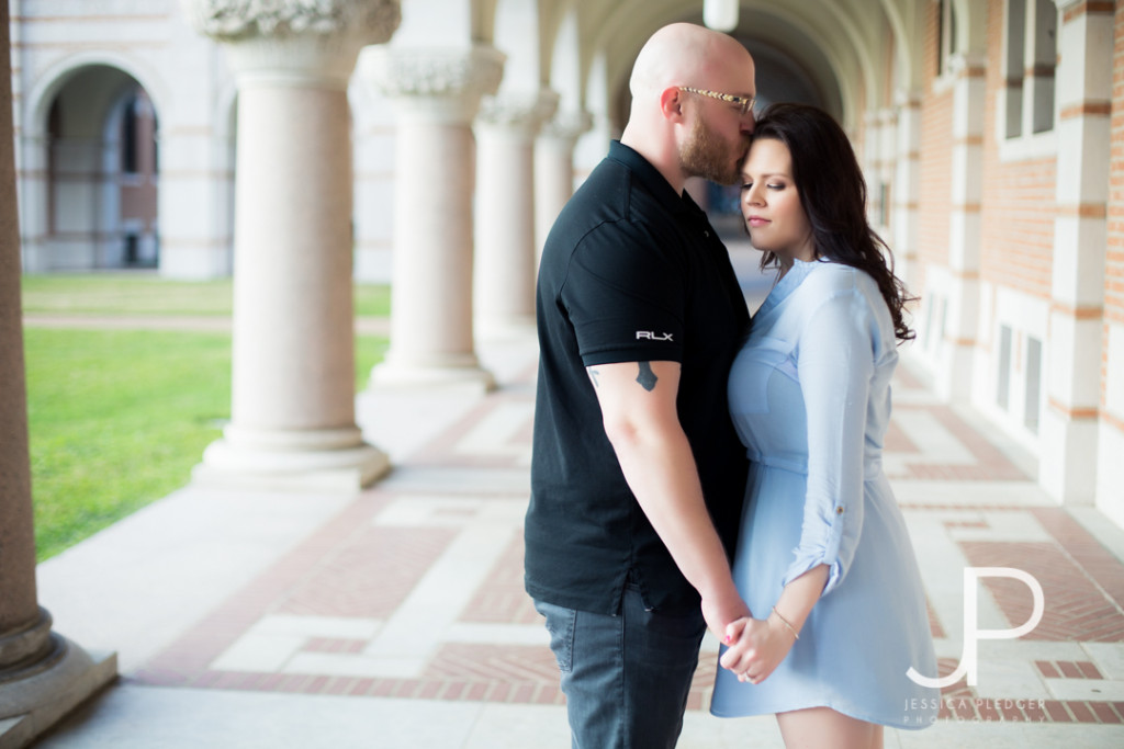 Chevy El Camino at Rice University Engagement Session | Jessica Pledger Photography