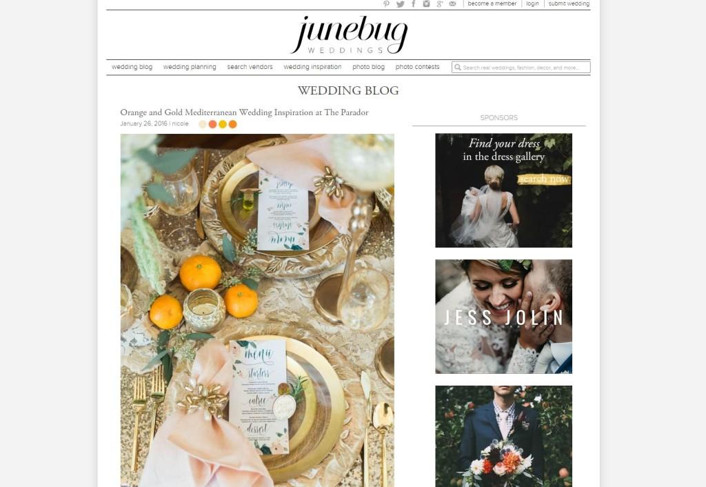 June Bug Weddings Blog | Orange Gold Styled Wedding shoot | Jessica Pledger Photography