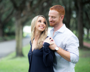 Fall Engagement Photos in Oak Trees