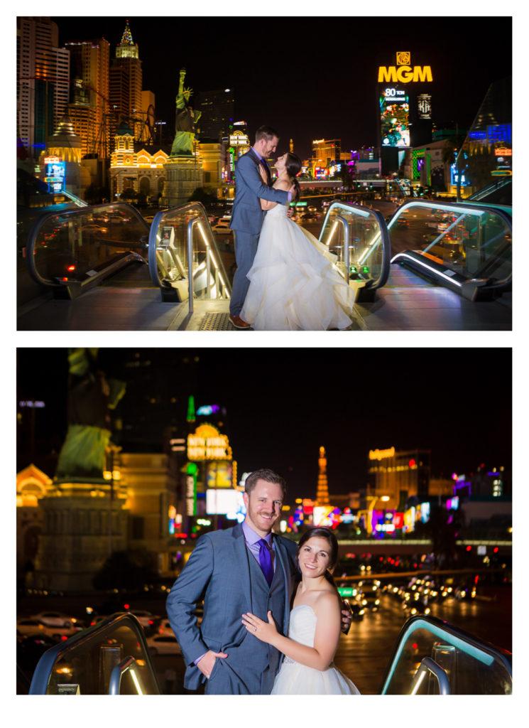 Las Vegas Strip Wedding Photos | Jessica Pledger Photography