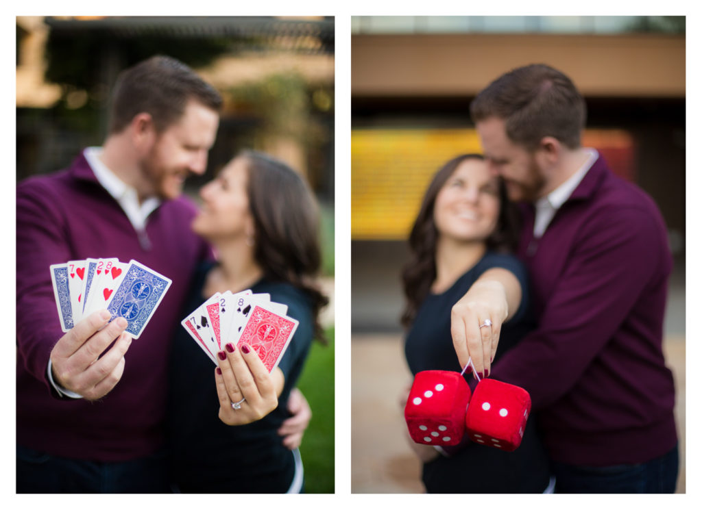 Las Vegas Themed Engagement Photos