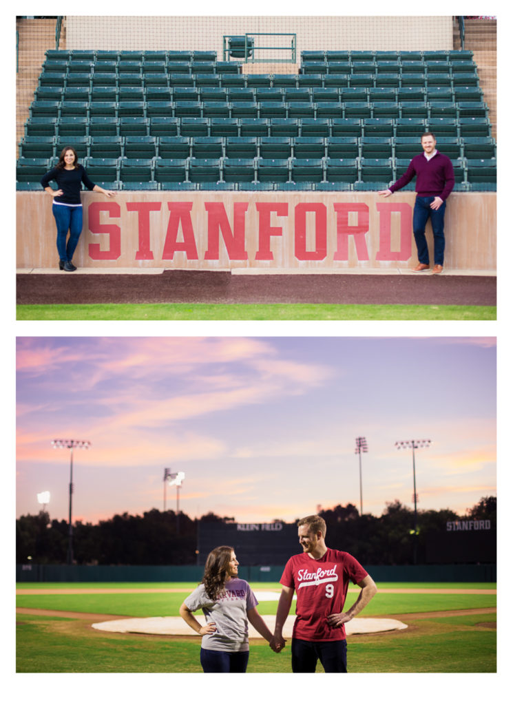 Softball and Baseball themed Engagement Photos