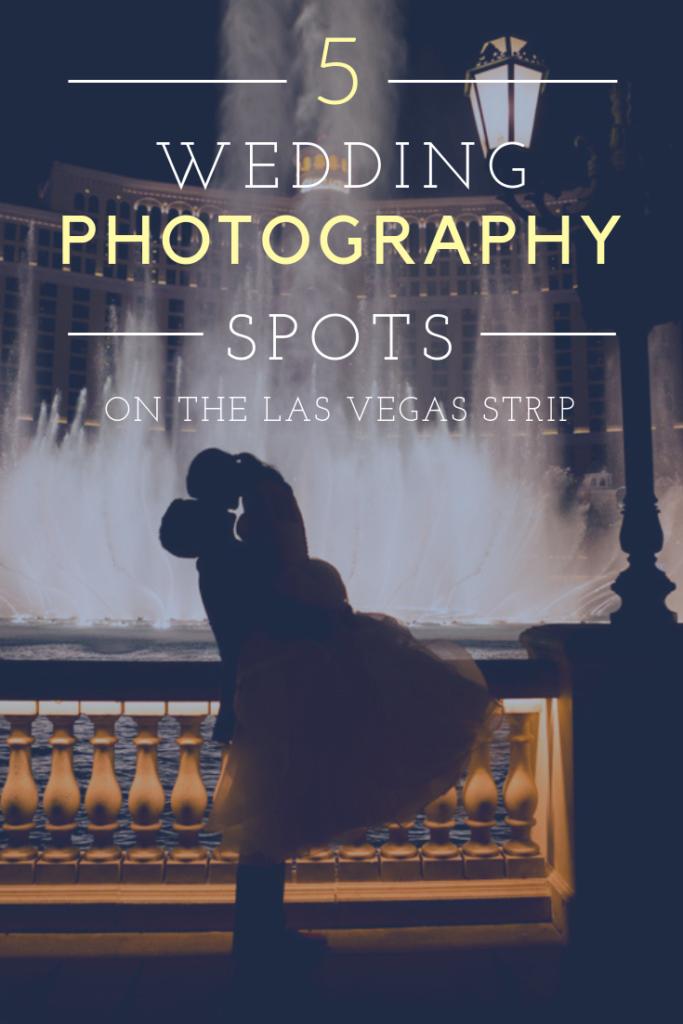 Las Vegas Strip Wedding Photos - Bellagio Fountains | Jessica Pledger Photography