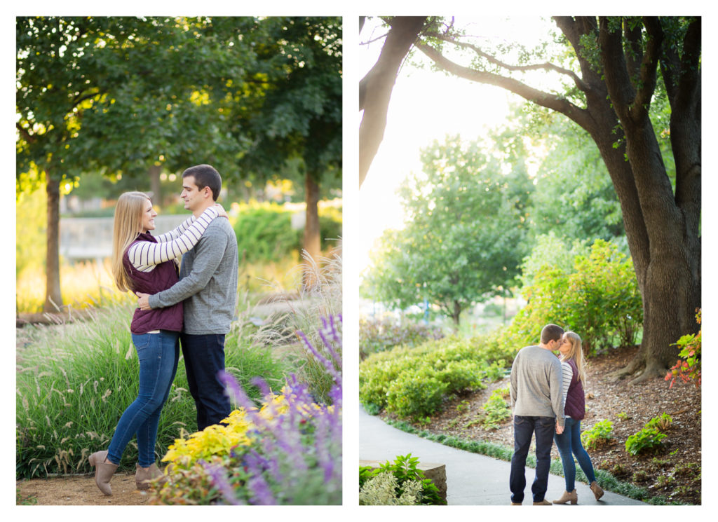 Oklahoma City Fall Engagement Session at the Myriad Gardens