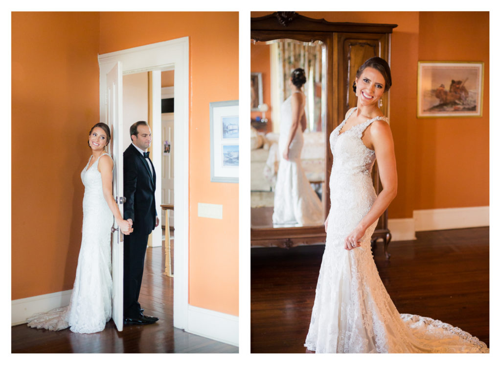 Bridal Portrait on Wedding Day - Elizabeth & Hunter's Wedding at the Lasker Inn | Galveston Wedding Venue | Jessica Pledger Photography