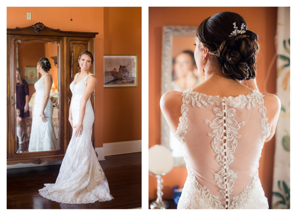 Bride Getting Ready - Elizabeth & Hunter's Wedding at the Lasker Inn | Galveston Wedding Venue | Jessica Pledger Photography