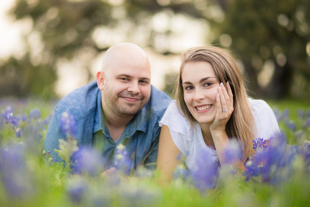 Aaron & Brooke Engagement Proposal Photos outside of Houston in wildflowers, bluebonnets, and Indian Paintbrushes - Jessica Pledger Photography