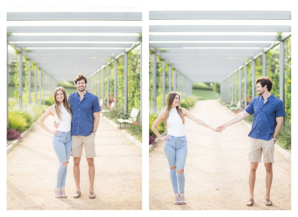 Houston Area Engagement Session at McGovern Centennial Gardens near Hermann Park by Jessica Pledger Photography